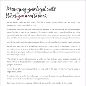 Managing Your Legal Costs